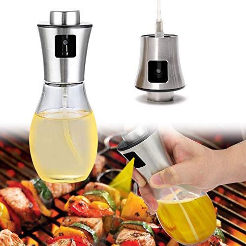 Turbobm Dispensador de pulverizador de Aceite de 200 ml, pulverizador de vinagre, Aerosol de aderezo, Botella de Vidrio de Aceite de Oliva para cocinar, cocinar, Ensalada, Hornear Pan, Barbacoa