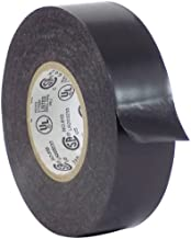 WOD EL7566-AW Premium Grade General Purpose Rubber Adhesive Black PVC Electrical Tape UL/CSA/CE Listed Core, rated up to 600V and 176F (Available in Multiple Sizes): 1 in. x 66 Ft. (Pack of 1)