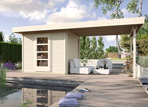 *weka Designhaus wekaLine 172 B Gr.2, natur, 28 mm, ET, Anbau 300 cm*