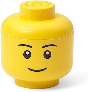 Room Copenhagen Mini-Cabeza de Almacenamiento Lego, Niña, Amarilla, One Size