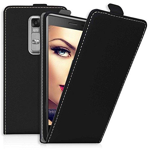mtb more energy® Flip-Hülle Tasche für LG Class/LG Zero (H650, 5.0'') - Schwarz - Kunstleder - Schutz-Tasche Cover Hülle