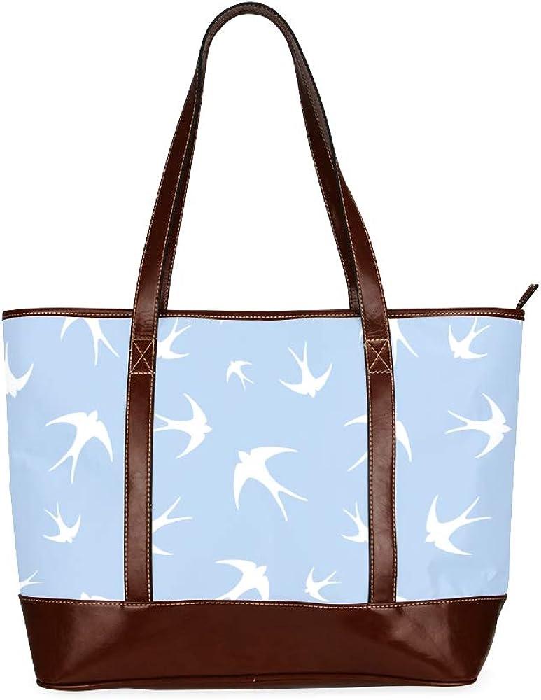 Many Swallows In Flight Handbag Bags Womans Bags Large Capacity Printed Travel Handbag With Zipper Top-handle