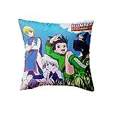 45x45 cm Cojin Fundas Hisoka Hunter X Hunter Throw Pillow Case Funda de Almohada para Cojín 18x18 Inch