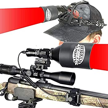 Wicked Lights W404iC and ScanPro iC Gen 2 Red Night Hunting Light and Headlamp Combo Kit for Hog Coyote Varmint and Predator