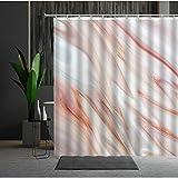 longeg Cortina de Ducha de mármol Conjunto Moho Proof Cortinas de Dormitorio Modernas Productos domésticos Tela de poliéster Creatividad Personalidad-5611L_120x180cm-47x70in