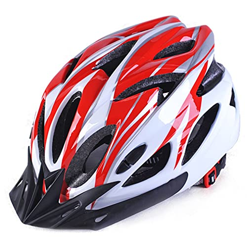 Olamasa 大人マウンテンバイクヘルメット自転車サイクリングヘルメット超軽量IntergrallyサイズML軽量機器ギアスポーツ赤白