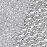 Tidyard Poolabdeckung Pool-Solarplane Pool-Solarfolie Solarabdeckung Solarfolie Poolheizung Wärmeplane Silbern 300 cm PE