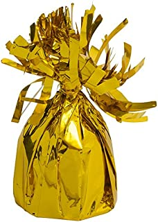 Shindigz Foil Balloon Weights Gold Package of 6 Birthday Party Supplies Decorations