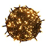 RPGT 500 LEDs 172ft Green Cable Wire Fairy String Tree Twinkle Lights 8 Modes for Christmas Party, Garden, Wedding, Home Decoration (Warm White)