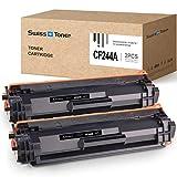 SWISS TONER 2 Negro CF244A Cartuchos de tóner Compatible para HP 44A CF244A para HP Laserjet Pro M15a M15w M16 M17a M17w MFP M28a MFP M28w MFP 29 MFP M30a MFP M30w Impresora