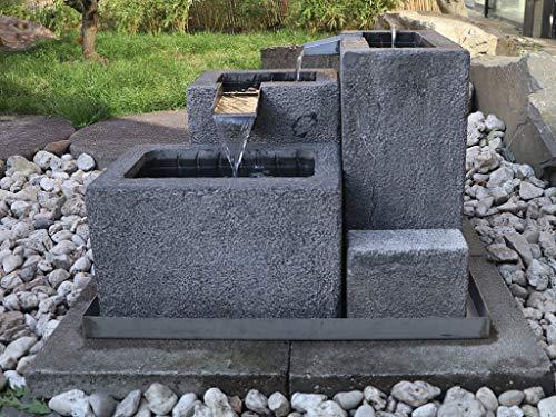 Yajutang Naturstein Brunnen gartenbrunnen zierbrunnen Garten Deko