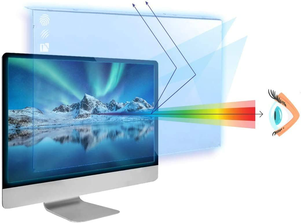 Anti Blue Light Screen Filter for 20 Inches Widescreen Desktop Monitor Reduce Eye Fatigue and Eye Strain Blocks Excessive Harmful Blue Light