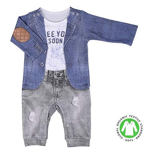 Sevira Kids - Combinaison bébé garçon en coton biologique - Joe