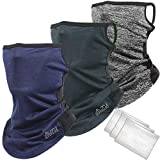 DaLaCa AIR フェイスカバー UVカット 冷感/国内アウトドアメーカーが販売する 息苦しくない 洗える 耳掛けタイプ 収納ケース付き (3色セット)