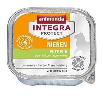 Integra Protect reins pour chat d'animonda, nourriture humide en cas d'insuffisance rénale chronique, à la dinde, 16 x 100g