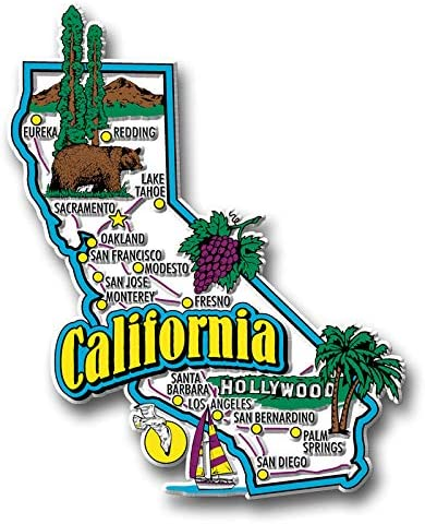 California Jumbo State New Limited time sale sales Magnet by So Classic Magnets Collectible