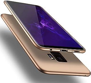 Samsung Galaxy S9 ケース X-Level サムスン ギャラクシーs9 カバー 耐衝撃 軽量 薄型 TPU おしゃれ スマホケース - ゴールド