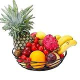 GuangYang Cesto di Frutta in Filo Metallico, Ciotola per riporre Verdure, Pane, Snack, Car...