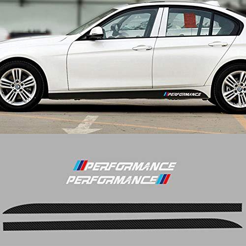 YYD Auto-Aufkleber - Auto-Seiten-Rock mit Trim-Aufkleber-Abziehbild für BM_W 2 Series Double Door,Carbon Fiber Black