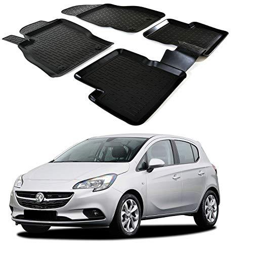 SCOUTT   3D Tapis DE Sol en Caoutchouc Premium Compatible avec Opel Corsa D 2006-2019 4 piéces