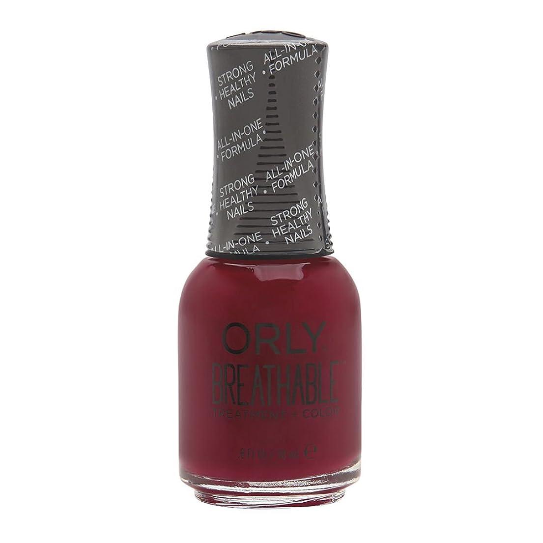 ピット発表する田舎者Orly Breathable Treatment + Color Nail Lacquer - The Antidote - 0.6oz/18ml