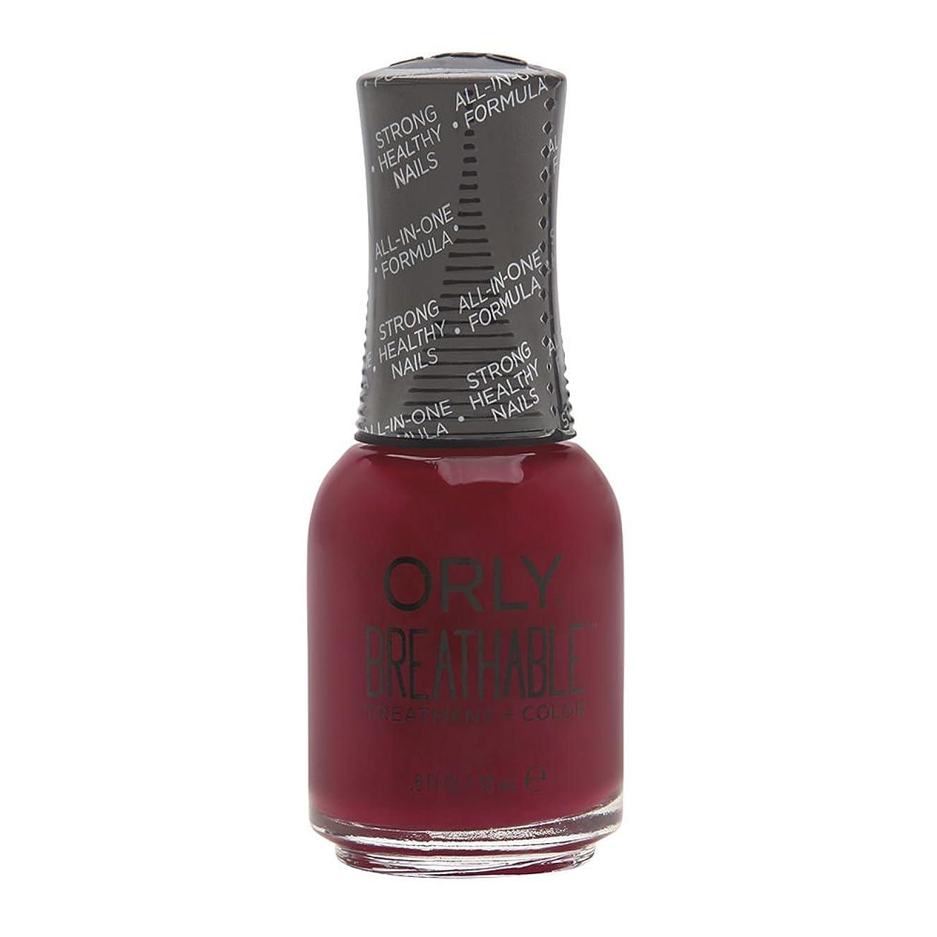 傾向がある用心深い解くOrly Breathable Treatment + Color Nail Lacquer - The Antidote - 0.6oz/18ml
