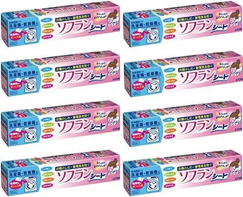 【まとめ買い】乾燥機用ソフラン シートタイプ柔軟剤 25枚×8個