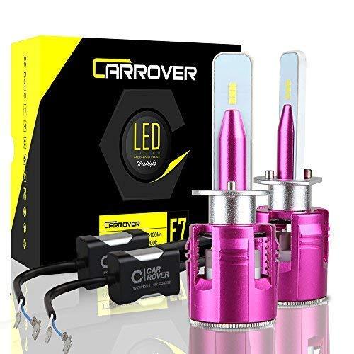 CAR ROVER Bombillas H1 LED 10800 lm faros delanteros o antiniebla para coche, kit de sustitución para halógeno Xenon Luci-12 V-24 V lámpara 6000 K blanco