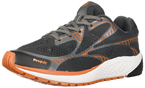 Propét Herren Propet One LT Turnschuh, Dark Grey/Burnt Orange, 50 5E EU