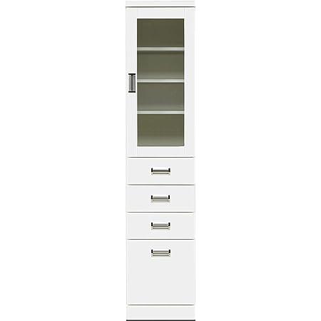 関家具(Sekikagu) 食器棚 ホワイト 幅40×奥行40×高さ180cm 食器棚 Aタイプ ホワイト