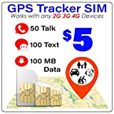 GPS Tracker SIM Card - Pet Kid Senior Car - 4G Tracking Device - 30 Day Service - USA Canada & Mexico Roaming