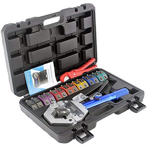 Engarzadora de manguera hidráulica Manual A / C Kit de engarzadora de manguera Reparación de aire acondicionado Herramienta de engarzado de manguera hidráulica de mano
