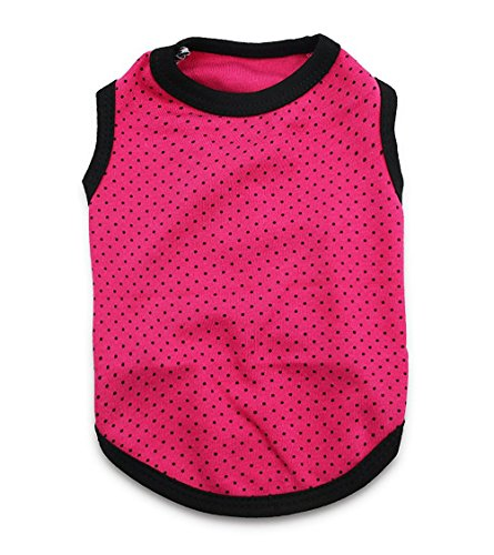 DroolingDog Pet Dog Tank Top Polka Dots Puppy Vest Shirts for Small Dogs, XS