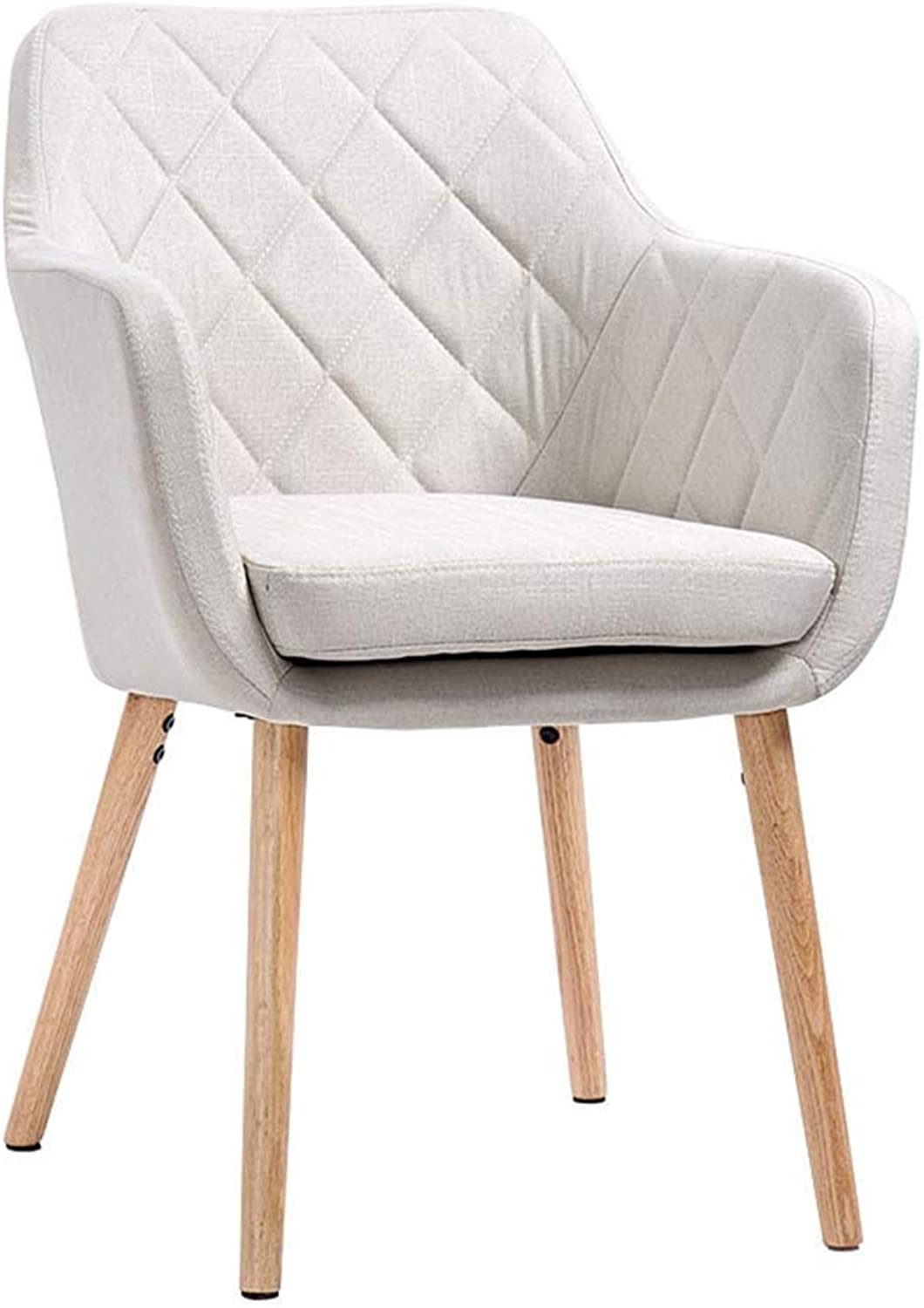 Nordic Work Chair, Simple Style Chair Coffee Lounge Chair Padded Cushion Cafe Lounge Chair with Armrest Wear Resistant Dirt Durable (color   White)
