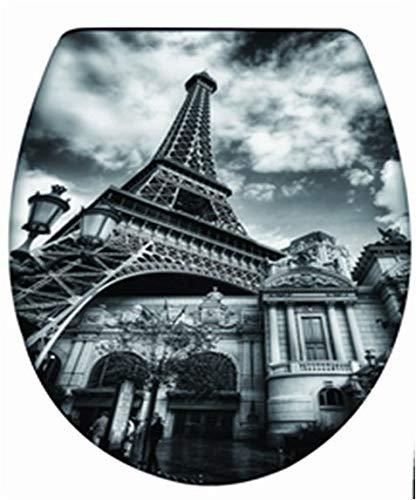takestop® universele hoes voor beginners Parigi ESY_69007 toiletbril TAVOLETTA beker voor badkamer wc-dekselhoes waterafdekking.
