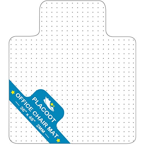 Chair Mat for Carpet with Lip Studs Strong Impact Resistance Effective Grip Durable Non-Slip Easy to...