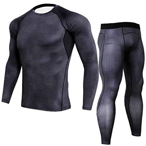 Sneldrogend ademend T-shirt met moderne slangenprint casual heren fitness loop lange mouwen shirt sportkleding