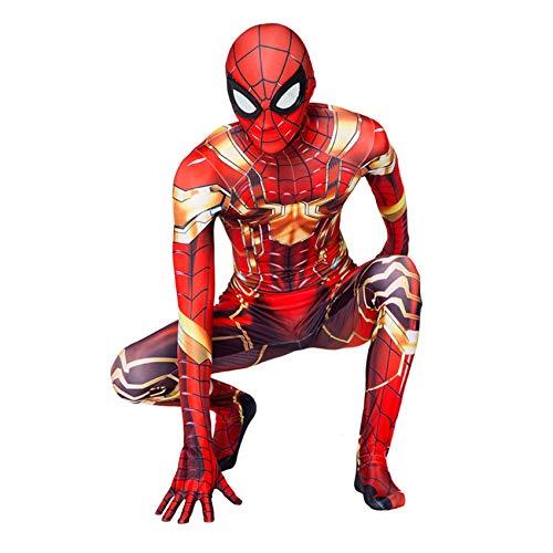 FSMJY Disfraz De Iron Spiderman 5-6 Años Mono Superhéroe Estampado 3D Traje De Disfraces Mono para Niños Adultos Halloween Carnaval Onesies Disfraces Regalo,Spiderman-130~140cm