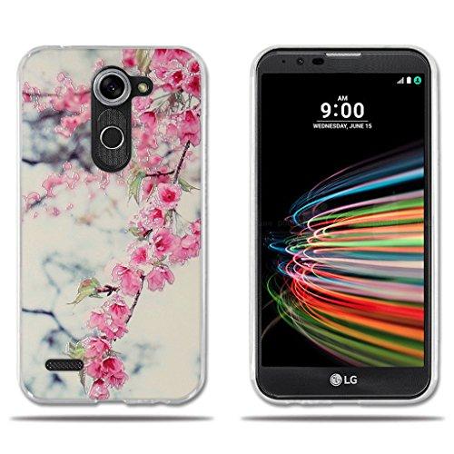 FUBAODA für LG X mach/X Fast/K600 Hülle, Transparent Silikon Clear TPU Fashion Design Anti-Scratch Smart Schutz Slim Fit Shockproof Flexible 3D zeitgenössischen Chic Design für LG X mach/X Fast/K600