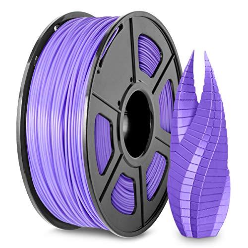 Filamento PLA Stampante 3D 1,75, Filamento PLA Viola SUNLU 1,75 mm, Stampante 3D FDM Adatta, Bobina da 1 kg, Precisione Dimensionale +/- 0,02 mm, Viola PLA