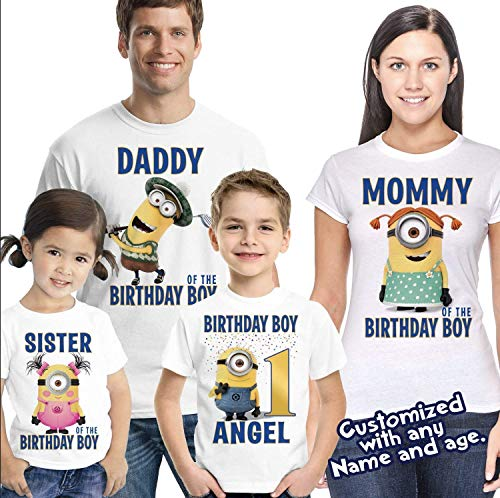 Boys or Girls Personalised Name Theme T-Shirt Gift Idea Tee Top for Kids