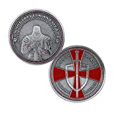BHealthLife Knight Templar Red Cross Challenge Coin Collection Religious Coin Commemorative Gift