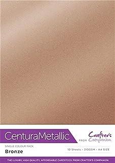 Centura Metallic Solo Color Bronce Paquete de 10 Hoja-Bronze, Cardstock, 34.4 x 22.5 x 0.5 cm