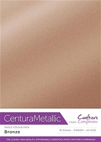 Centura Metallic Einfarbige Bronze 10 Bogenpacken, Cardstock, 34.4 x 22.5 x 0.5 cm