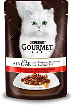 Lot de 24 portions de Nourriture pour Chat Gourmet A La Carte - Truite et légumes Fins - Portion de 85g chacune