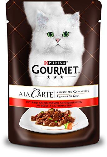 PURINA GOURMET A la Carte Katzenfutter nass, mit Rind und Gemüse, 24er Pack (24 x 85g)
