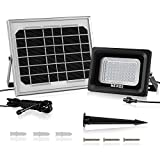 MEIKEE Solar Lights Outdoor LED Flood Lights Security Lights 300 Lumen IP66 Waterproof, 6000K Daylight White Auto-Induction Solar Flood Lights For Driveway Yard Lawn Patio Swimming Pool,Outdoor Garden