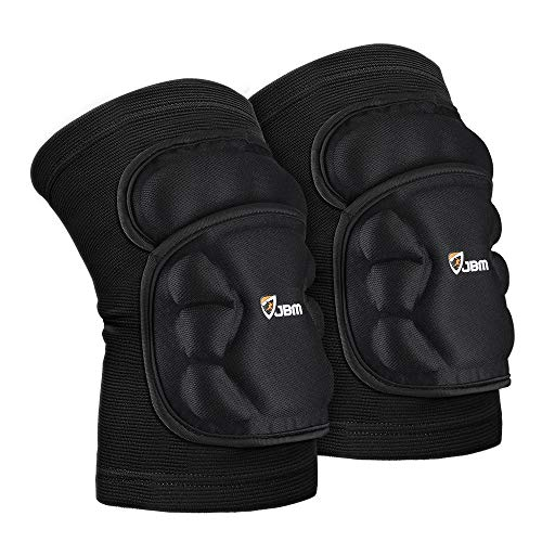 JBM Knee Brace Soft Non Slip Knee Pads Breathable Knee Compression Sleeve Elastic Anti-Collision...