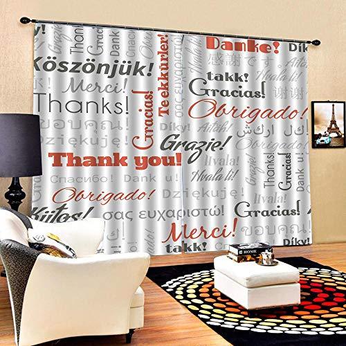 xmydeshoop Cortinas inglesas para el Dormitorio Cortina de Ventana 3D Blackout Sala de Estar Cortinas de Dormitorio Cortinas Cortinas 200(H) x130(W) Cmx2