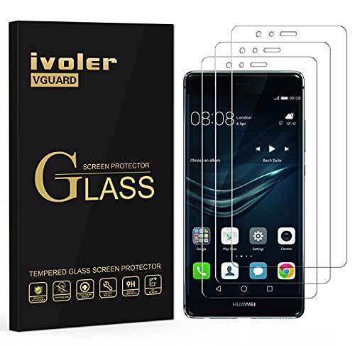 ivoler [3 Unidades] Protector de Pantalla para Huawei P9 Lite, Cristal Vidrio...